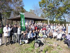 2011/11/26 岩屋城山頂で記念写真